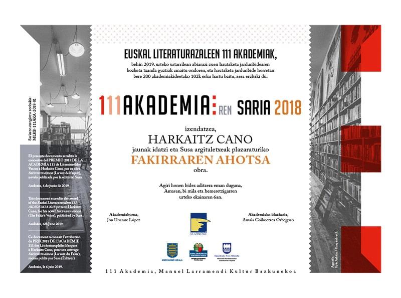 zirrimarra 111 akademia saria diseinua euskara