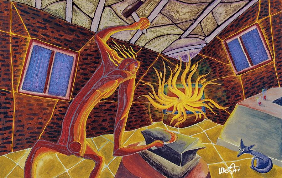 zirrimarra wentxi illustration marrazkia murala andoain