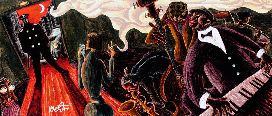 zirrimarra Jazz illustration Jazza marrazkia andoain