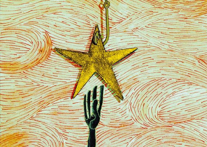 estrella y anzuelo eterno engaño