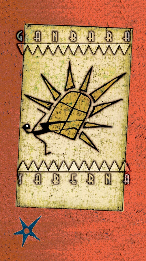 ganbara kartela zirrimarra illustration logo